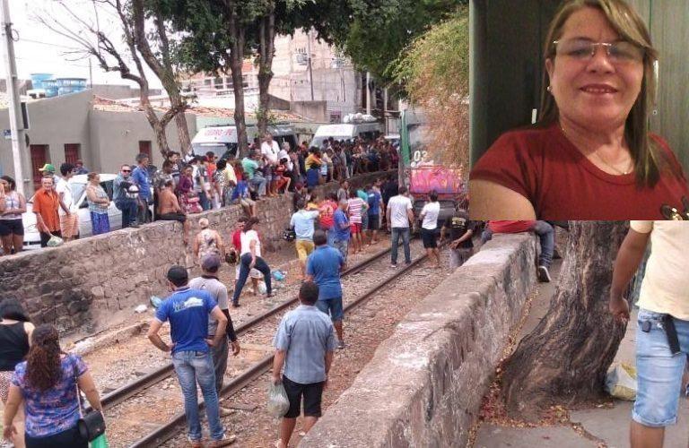 Mulher morre após ser atropelada pelo 'Metrô do Cariri' em Juazeiro do Norte