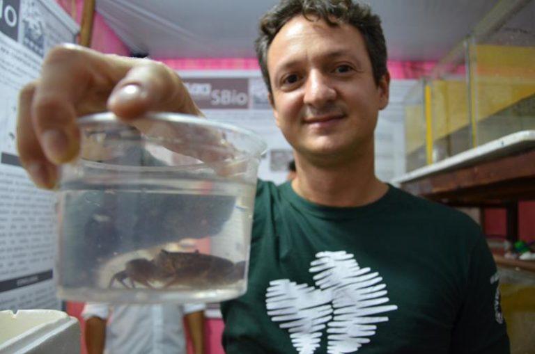 Pesquisadores realizam ação para conservação do caranguejo   guaja-do-araripe