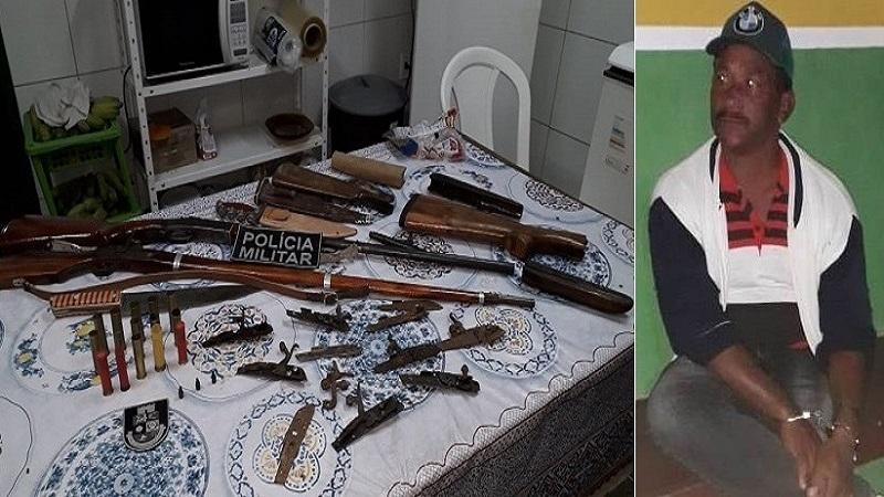 OPERAÇÃO REI DAS ARMAS Polícia Militar fecha fabrica clandestina de armas em Missão Velha-CE
