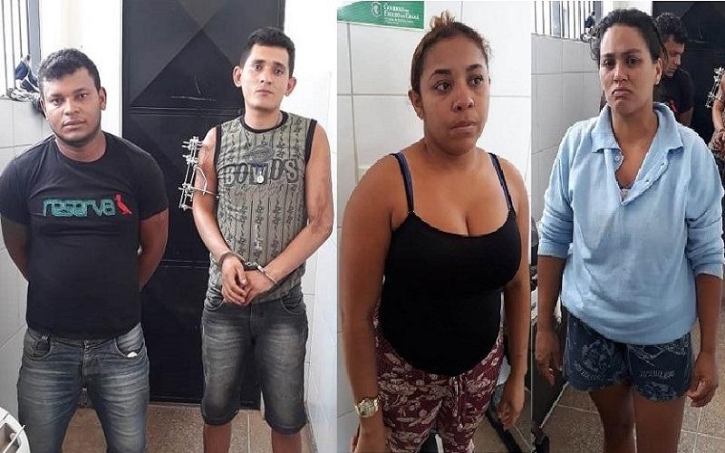 Quarteto preso em Crato acusado de roubo, receptação e associação criminosa (1)