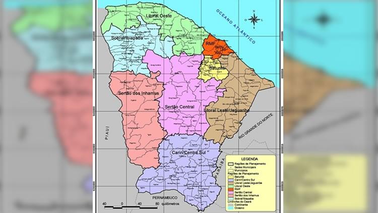 Governo do Ceará define limites intermunicipais para os municípios