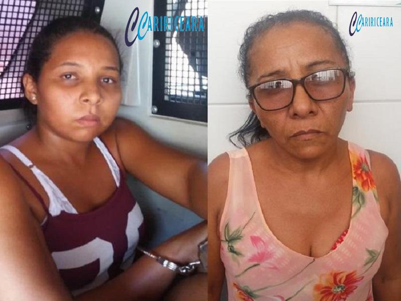 Mãe e filha são presas e menor apreendida de posse de cocaína e maconha, em Crato