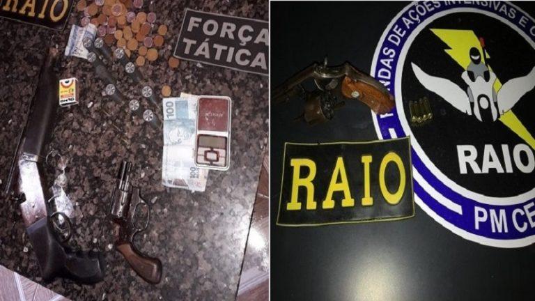 Polícia Militar efetua apreensões de arma de fogo em Juazeiro e Missão Velha