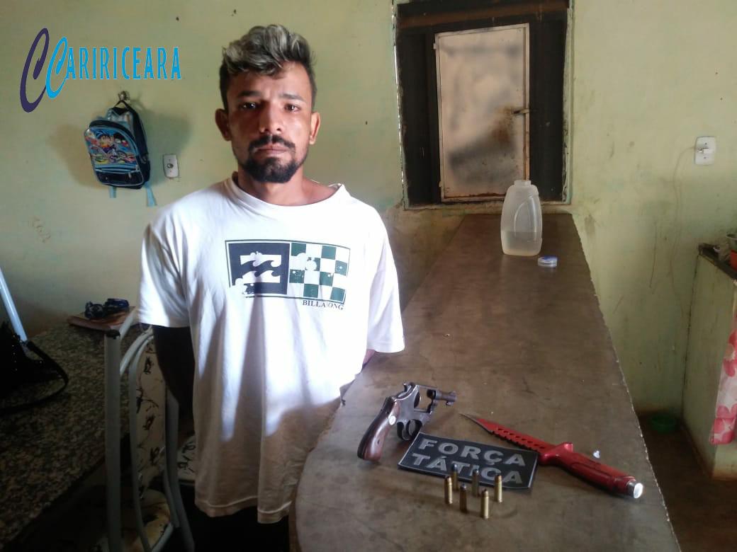 Acusado de matar crediarista à faca em Missão Velha é preso pela policia militar em Abaiara