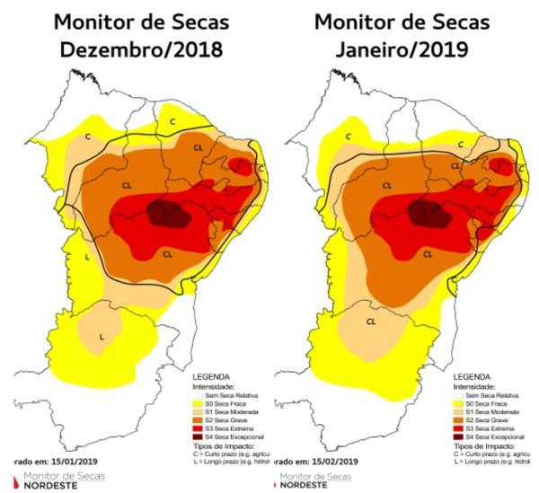 Apesar dos resultados da Pré-Estação, que ficaram 51,3% acima da média, o Estado tem apenas três açudes sangrando. — Foto: Monitor de Secas/Reprodução