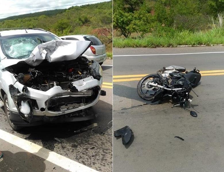 Colisão frontal entre carro e moto na CE 293 mata homem de 36 anos em Missão Velha