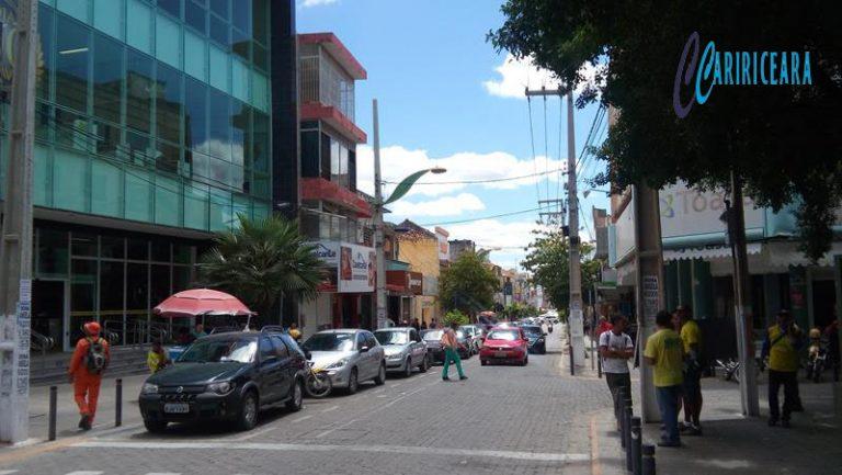 Rua Dr. João Pessoa, no centro comercial do Crato - Foto Jota Lopes_Agência Caririceara.com