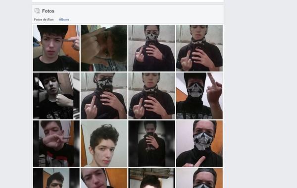 Fotos do Facebook de um dos assassinos da escola de Suzano — Foto: Reprodução/Facebook