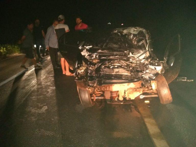 Três mortos numa colisão entre veículos ocorrida na madrugada desta segunda-feira, na BR 116 no município de Milagres (1)