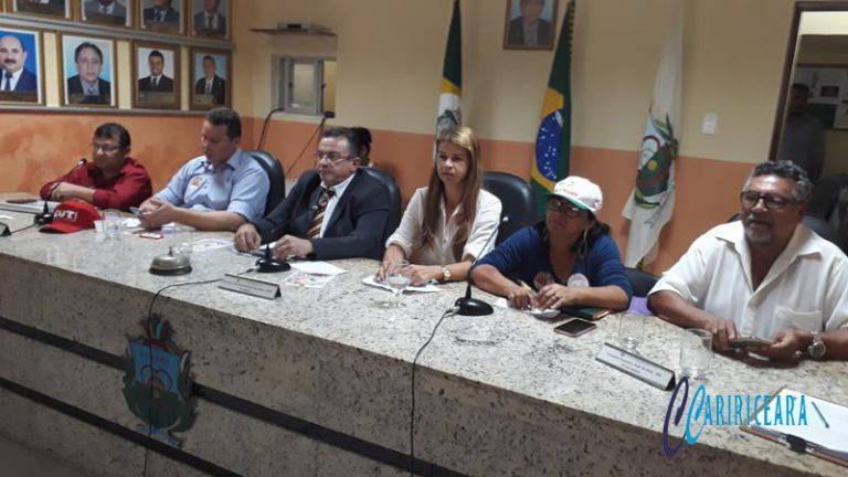 Em Crato, audiência pública discute a reforma da previdência Foto Jota Lopes AGÊNCIA C ARIRICEARA.COM