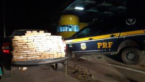 Mais de 100 quilos de maconha são apreendidos pela PRF dentro de caminhonete em Milagres, no Ceará