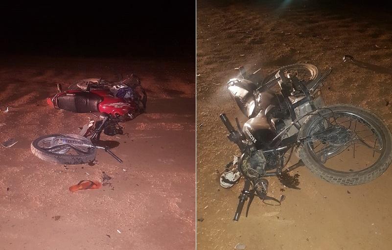 Batida frontal entre motocicletas deixa três mortos na CE-187, em Salitre Foto Redes sociais