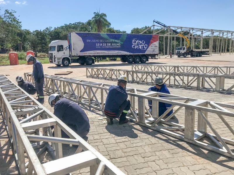 Festival Expocrato 2019 inicia montagem de mega palco no Parque de Exposições (1)