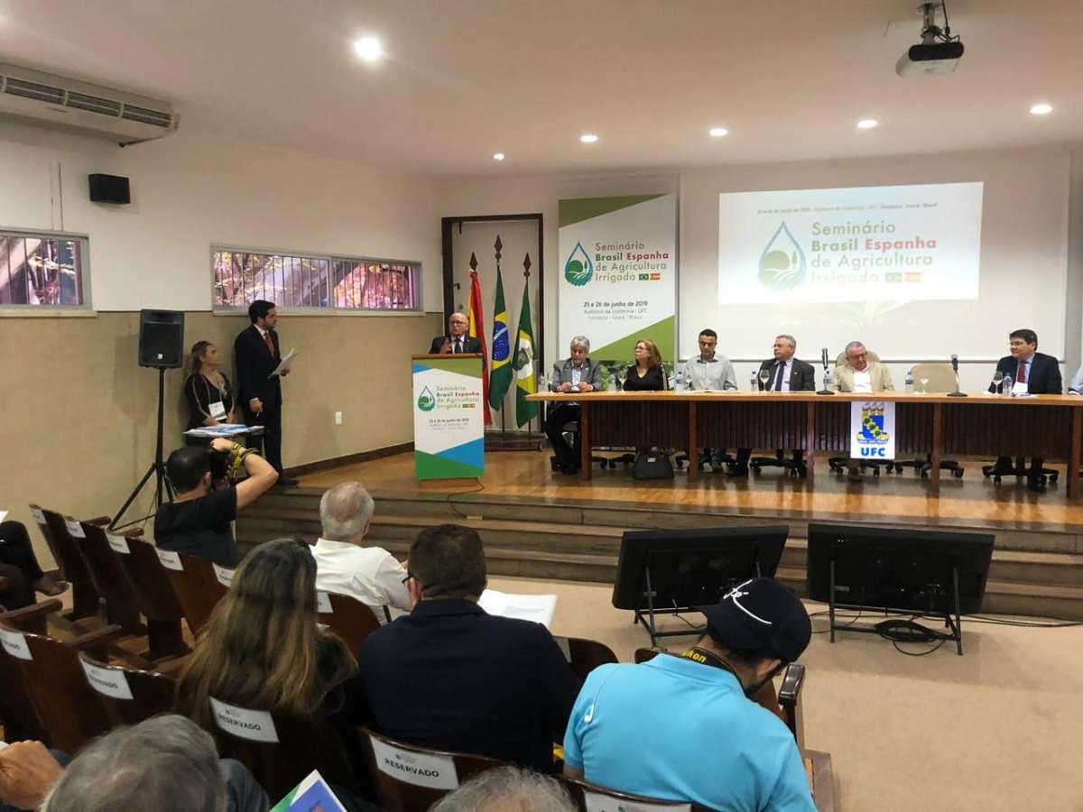 Gestão hídrica do Ceará é destaque em Seminário Brasil Espanha de Agricultura Irrigada