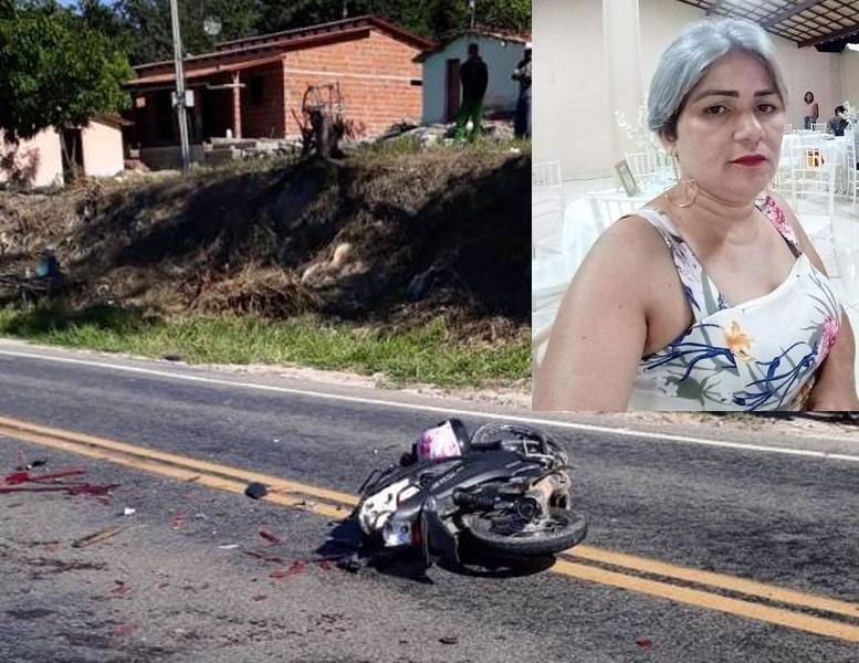 Mulher morre atropelada por F-400 após colidir moto na traseira de Topic na CE 060 em Jardim Foto Redes sociais