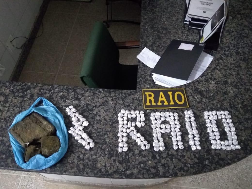Casal é flagrado pelo Raio na posse de 783 gramas de maconha  em Crato