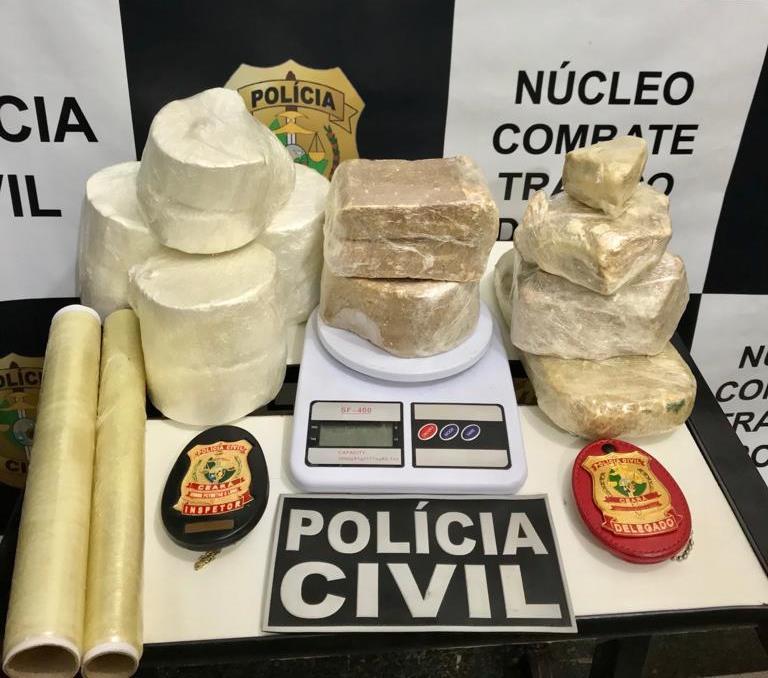 Polícia Civil apreende 3.869KG de cocaína e 3.792kg de crack, além de apetrechos para o tráfico em Juazeiro do Norte