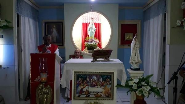 Um quadro de santa ceia foi furtado da capela Nossa Senhora Rainha da Paz em Juazeiro do Norte. — Foto- Arquivo Pessoal