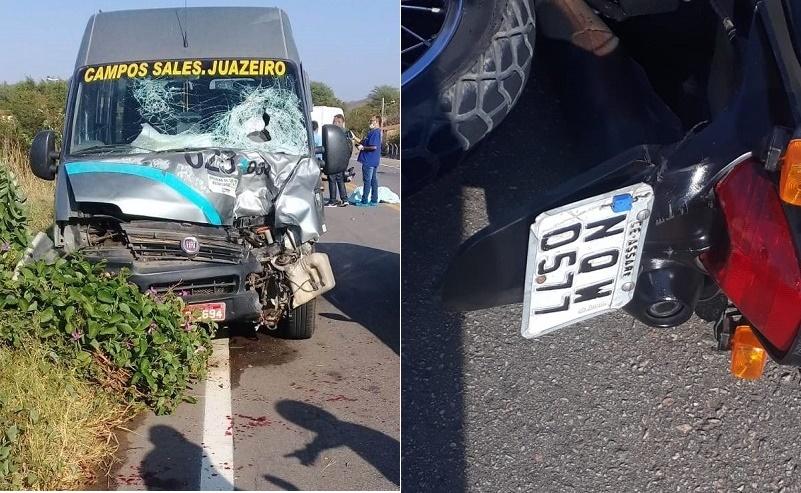 Adolescente de 17 anos morre em acidente envolvendo moto e Topic na CE-292, em Nova Olinda Foto Redes sociais_Divulgação