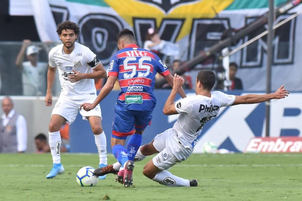 Santos cedeu empate ao Fortaleza (Foto Ivan Storti SFC) Gazeta Esportiva