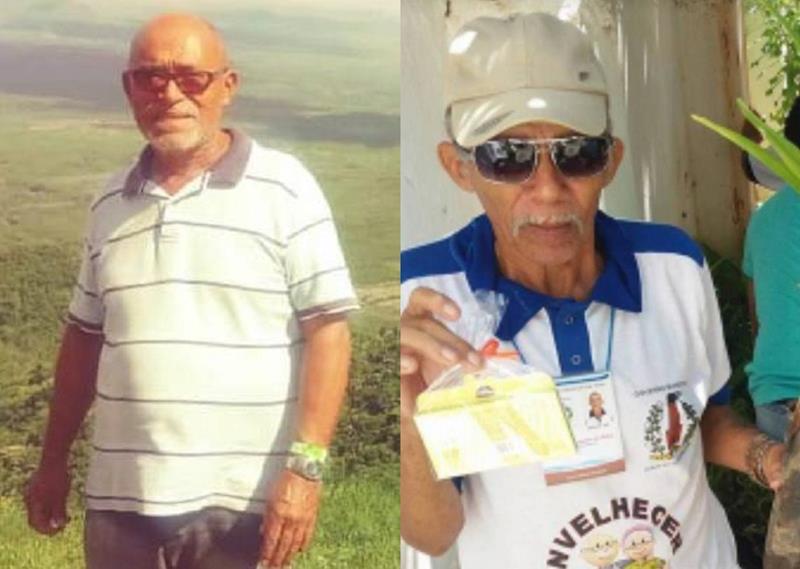 , Valdir Pedro Bastos.,68 anos e Miguel Nogueira da Silva, 72 anos Foto Redes sociais)Divulgação