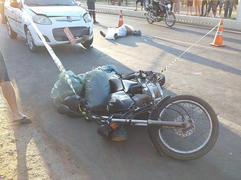 Motociclista de 61 anos morre apos seu veicluo ser colhido por Pálio na Avenida Crato-Juazeiro 08.09.2019 Foto Redes sociais