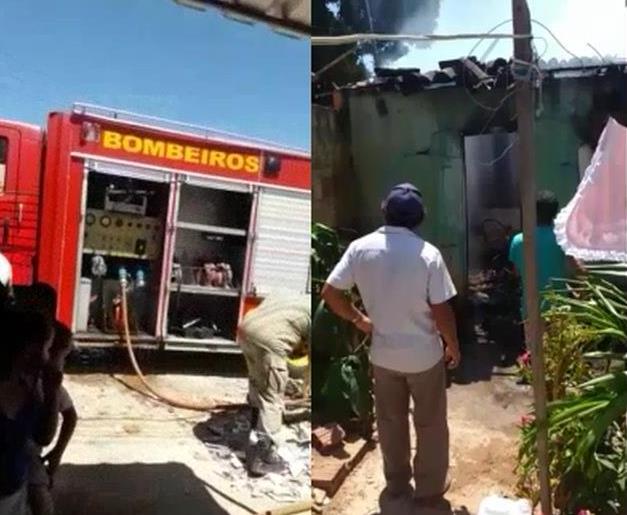 Mulher sofre queimaduras em primeiro grau após incêndio em residência em Barbalha Foto Reprodução Site Caririceara.com