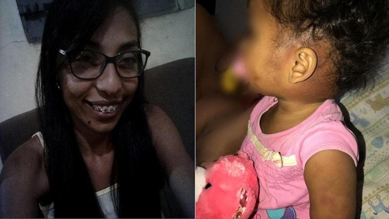 Suspeita de torturar criança de 1 ano madrasta é presa pela PM; o crime aconteceu na residência onde moram vítima e acusada em Juazeiro do Norte Foto Redes sociais