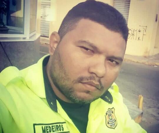 Agente do Demutran de Juazeiro, Junior Medeiros. Foto Redes sociais