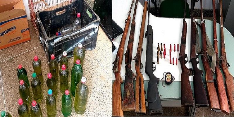 Dupla é presa em Crato pela Polícia Civil por posse de arma, de fogo, de venda irregular de combustível e crime ambiental Foto redes sociais