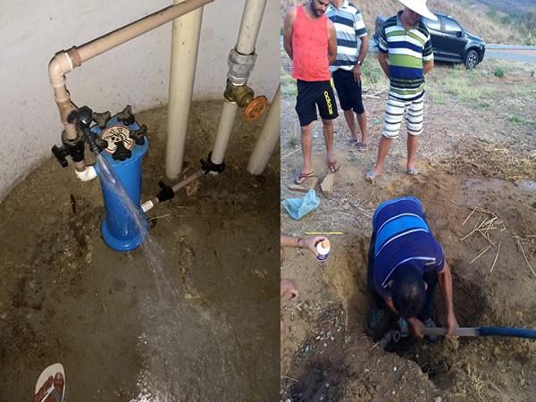 Em Santana do Cariri, governo municipal entrega às famílias do Sítio Boa Vista sistema de abastecimento de água