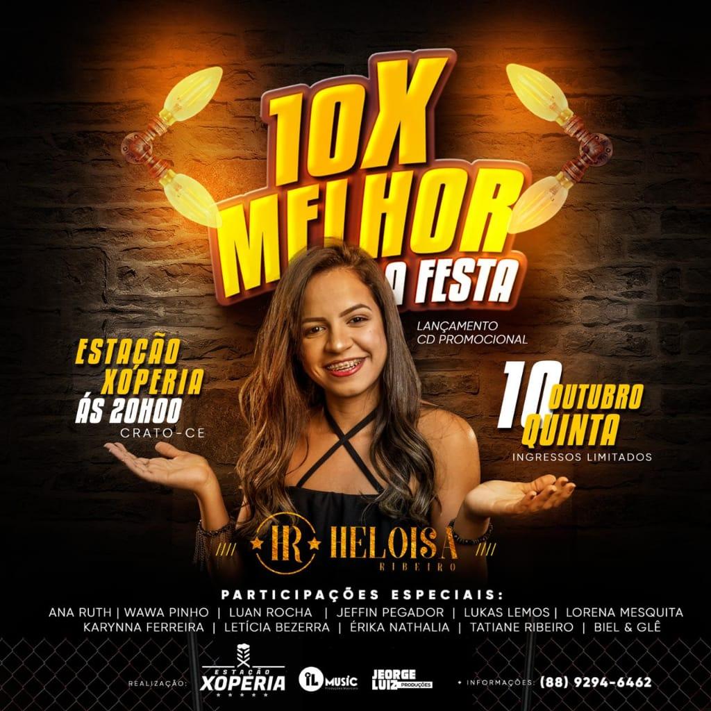 Heloísa Ribeiro faz lançamento do primeiro CD nesta quinta-feira (10), em Crato