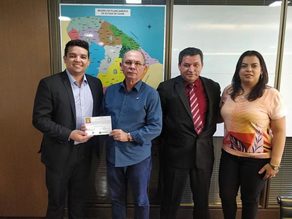 Prefeito Pedro Henrique Correia de Santana do Cariri cumpre agenda em Fortaleza