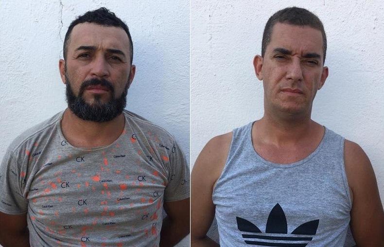 Janaílton de Araújo Silva, 37 anos e Valdemberg de Araújo Guimarães,38 anos PRESOS EM CRATO 16.11.2019 Foto Redes sociais