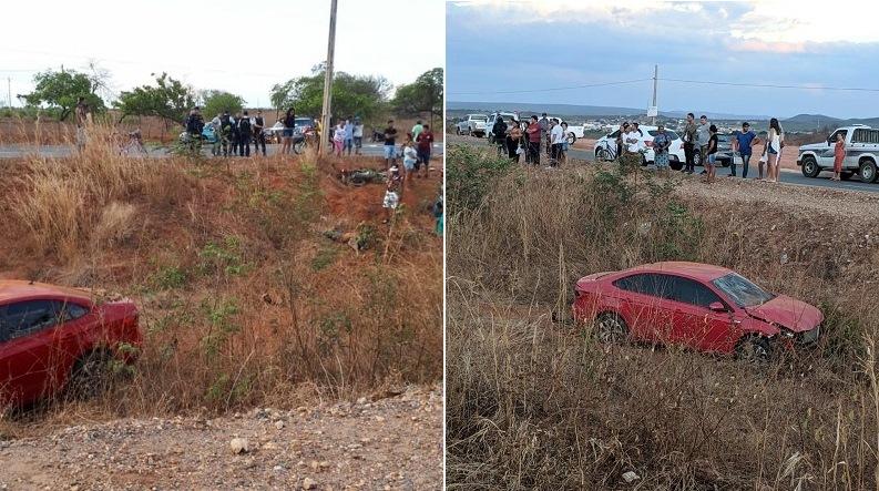 Avô morre e neto fica ferido após colisão entre moto e automóvel na CE 293, em Missão Velha Foto Redes sociais