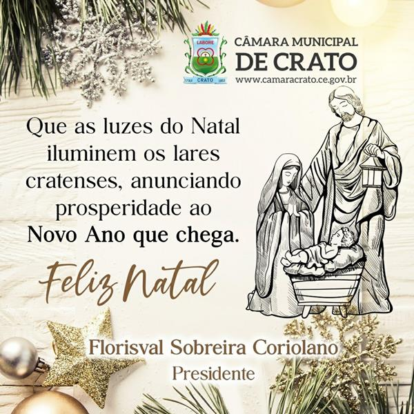 Banner de Natal 2019 -Câmara do Crato