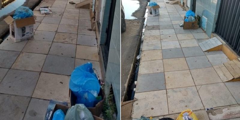 Moradores de rua no bairro São Miguel, em Crato reclamam de lixo na porta de casa e falta iluminação pública Foto Agência Caririceara.com
