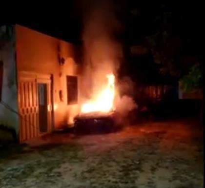 Após atear fogo em carro, policial militar é preso em Crato pela Polícia Civil