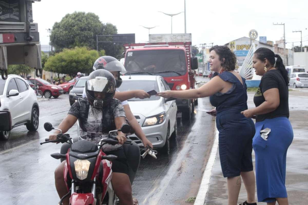 Blitz e roda de conversa marcam ação em defesa das mulheres no Cariri