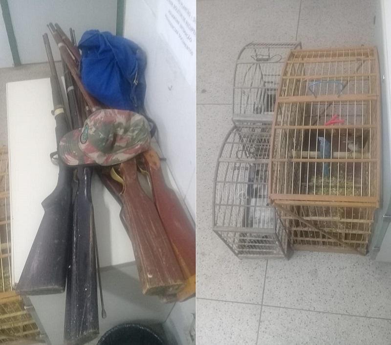 Dois homens são presos em Caririaçu acusados de posse porte ilegal de arma de fogo e crime ambiental Foto Redes sociais