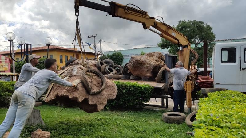 Pesquisadores da URCA resgatam maior tronco fóssil já encontrado na Bacia do Araripe (1)