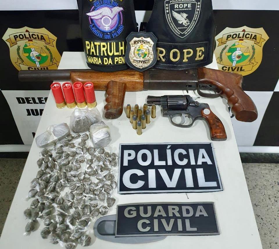 """Suspeitos de matarem """"Bebê"""" a bala são presos pela Policia Civil em Juazeiro do Norte Fot Redes redes."""