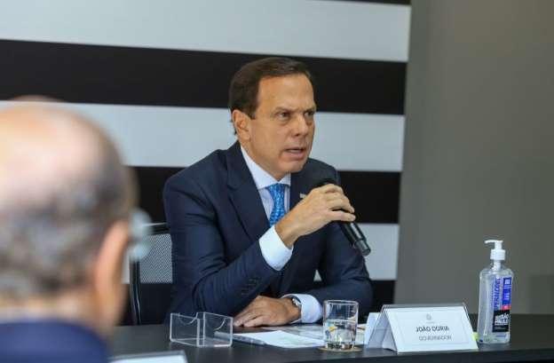 © Governo do Estado de São Paulo Doria durante bate-boca com Bolsonaro em videoconferência_ governadores estão descolados das ações promovidas pelo Planalto