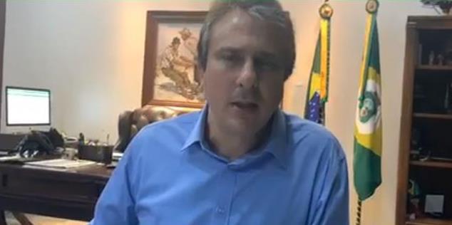 A economia a gente busca depois recuperar Vidas a gente tem que salvar (Governador Camilo Santana) Foto Reprodução