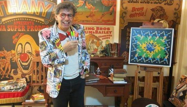Morre cartunista Daniel Azulay, aos 72 anos, vítima de coronavírus. FOTO - RODRIGO _