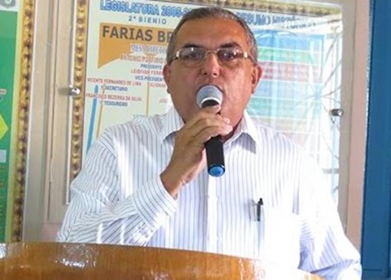 vereador e ex-Presidente da Câmara Municipal de Farias Brito, Francisco Pereira Oliveira o Chico da Betânia Foto Reprodução