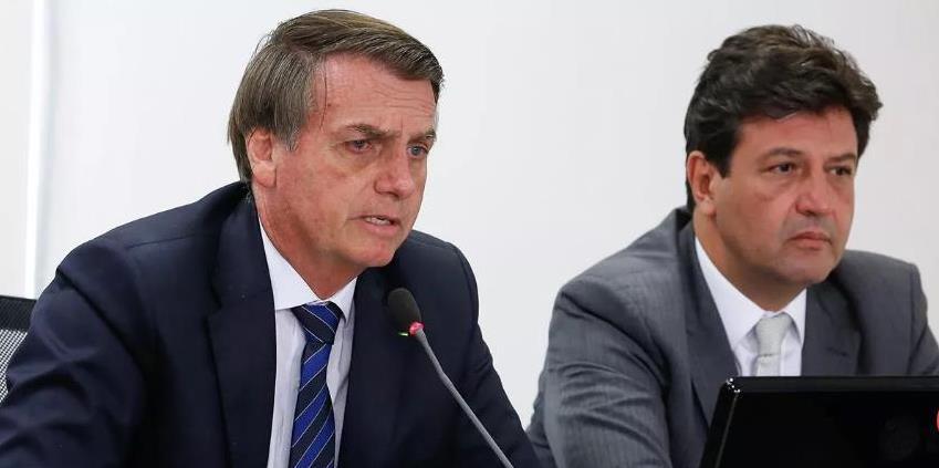 Jair Bolsonaro e Ministro da Saúde Luiz Henrique Mandetta (Foto Carolina AntunesPR)