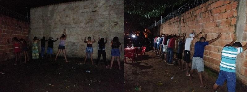 Festa regada a bebidas e música, com dezenas de pessoas acaba após a PM ser acionada para dá cumprimento ao decreto de isolamento social em Juazeiro (2)