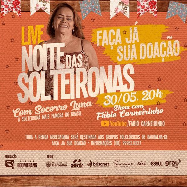 Live das Solteironas mantém tradição da Festa de Santo Antonio de Barbalha