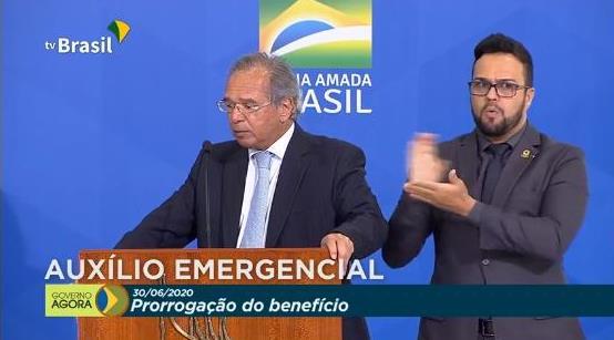Ministro Paulo Guedes anuncia mais duas parcelas do auxílio emergencial de R$ 600